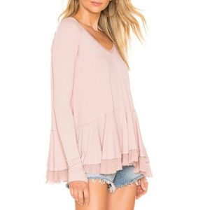 Nwt Free people ftriangle mauve top tee